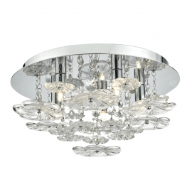 Dar Lighting Rochelle 5 Light Flush  (ROC5450)