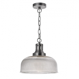 Dar Lighting Tack 1 Light Glass Pendant  (TAC0161)